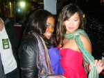 Amber Riley adn Jenna Ushkowitz<br/>Anu by Natural scarves